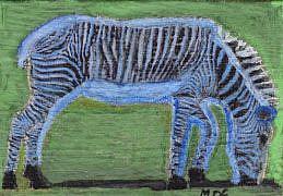Art: Zebra toy for a baby boy by Artist Gabriele Maurus