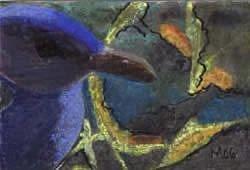 Art: Blue Gull by Artist Gabriele Maurus
