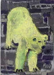 Art: POLAR BEAR, squinting by Artist Gabriele Maurus