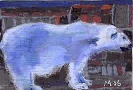 Art: POLAR BEAR, modelling by Artist Gabriele Maurus