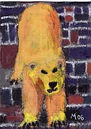 Art: POLAR BEAR, CHOOSING by Artist Gabriele Maurus