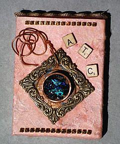 Art: Collage Artist Trading Card holder by Artist Deborah Sprague