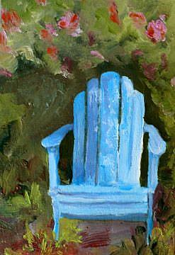 Art: Favorite spot in the Garden by Artist Deborah Sprague
