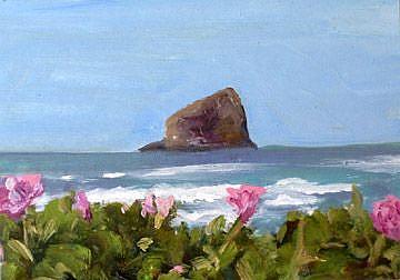 Art: Roses at the Shoreline by Artist Deborah Sprague