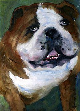 Art: For the Love of Bulldogs by Artist Deborah Sprague