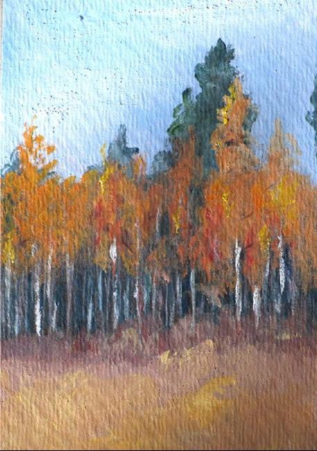 Art: Aspen in the Fall by Artist Deborah Sprague