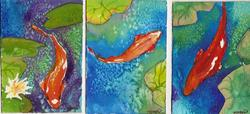 Art: Tranquility POND ATC set by Artist Deborah Sprague