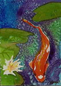 Detail Image for art Tranquility POND ATC set