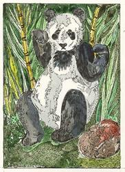 Art: 'VISITING THE PANDAS IN CHINA by Artist Theodora Demetriades