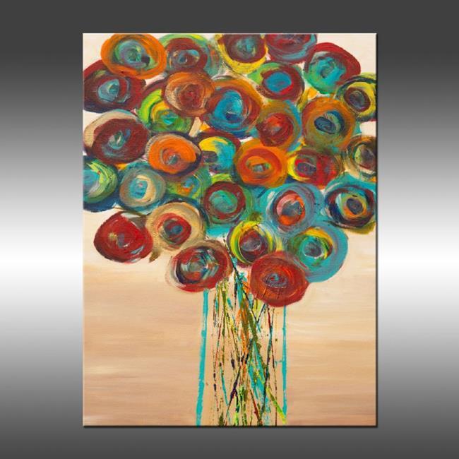 Art: Abstract Flowers 1 by Artist Hilary Winfield