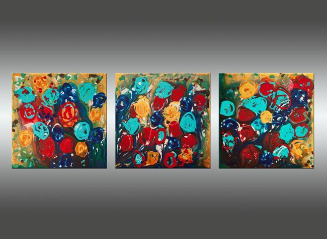Art: Abstract Flowers 3 by Artist Hilary Winfield