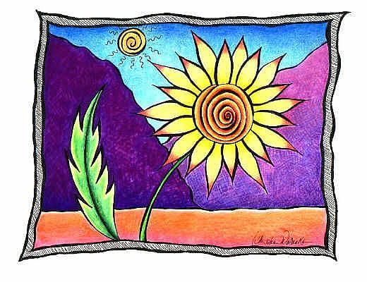 Art: Desert Flower II by Artist Christine Wasankari