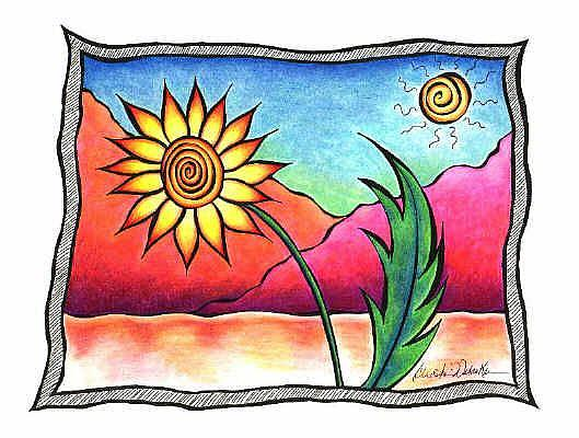 Art: Desert Flower III by Artist Christine Wasankari