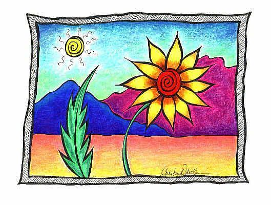 Art: Desert Flower I by Artist Christine Wasankari