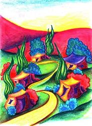 Art: Clay Hills of the Jemez by Artist Christine Wasankari