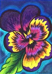 Art: Pansy by Artist Christine Wasankari