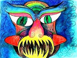 Art: My Nightmare Was Just a Mardi Gras Mask by Artist Christine Wasankari