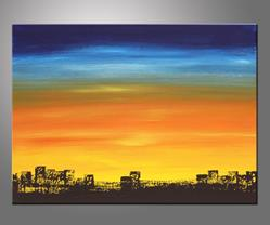 Art: Skyline by Artist Hilary Winfield