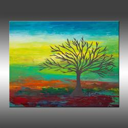 Art: Abstract Tree 3 by Artist Hilary Winfield