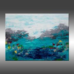 Art: Blue Lake 2 by Artist Hilary Winfield