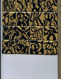 Detail Image for art Gold & Black Abstract People