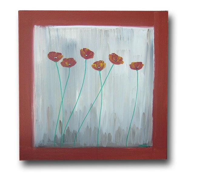 Art: Poppies in a Square by Artist Eridanus Sellen