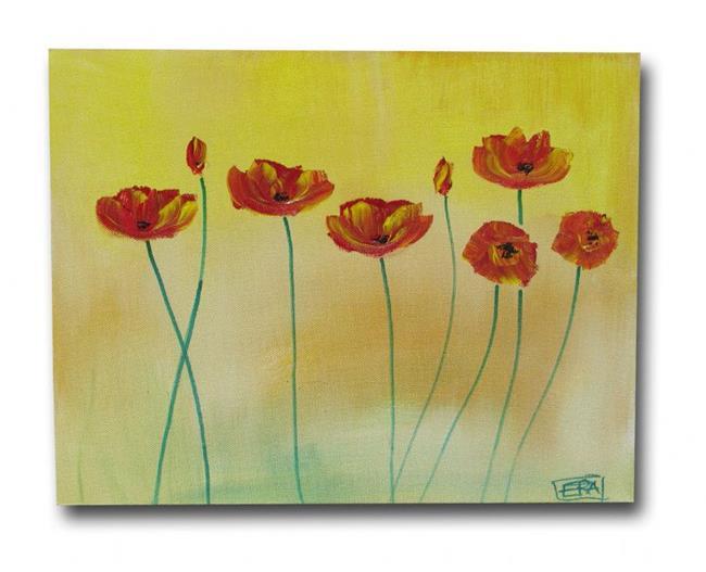 Art: Soft Tone Poppies by Artist Eridanus Sellen