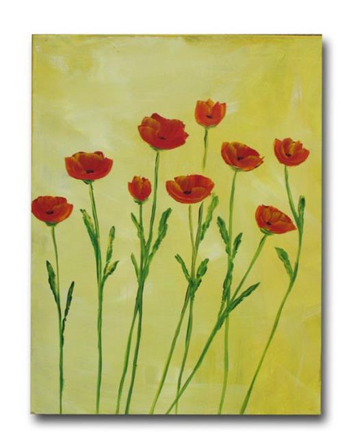 Art: Poppies Alight by Artist Eridanus Sellen