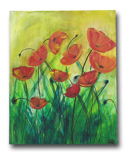 Art: Spring Time Poppies by Artist Eridanus Sellen