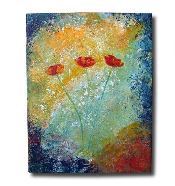 Art: Textured w/ Poppies by Artist Eridanus Sellen