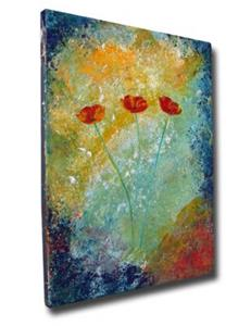 Detail Image for art Textured w/ Poppies