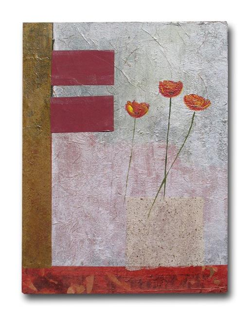 Art: Handmade Paper and Poppies by Artist Eridanus Sellen