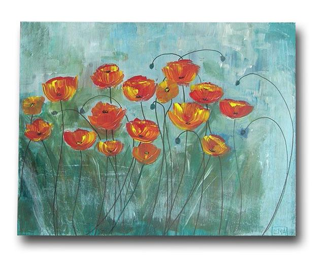 Art: Beautiful Day Poppies by Artist Eridanus Sellen