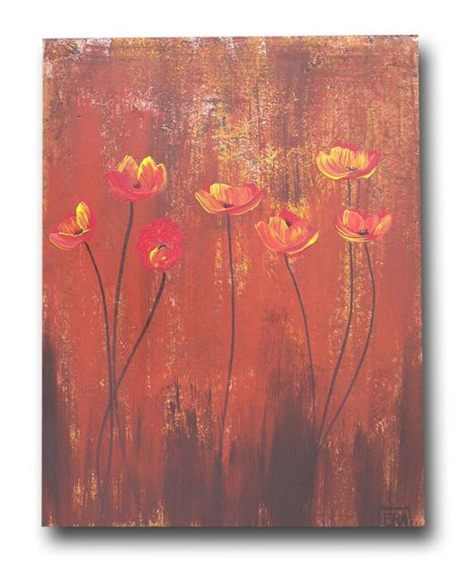 Art: Red Poppies by Artist Eridanus Sellen