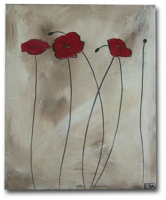 Art: Shaded Poppies by Artist Eridanus Sellen