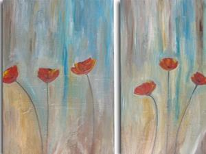 Detail Image for art Light Breeze Poppies