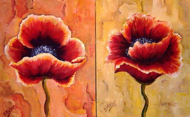 Art: A Pair of Poppies by Artist Diane Millsap
