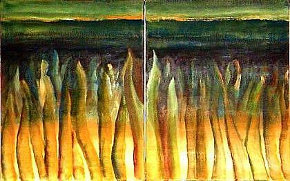 Art: Ocean Floor - SOLD by Artist Diane Millsap