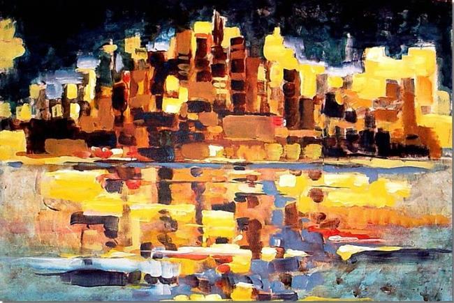 Art: Chicago City Lights by Artist Diane Millsap