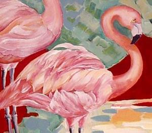 Detail Image for art Pink Flamingos