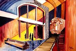 Art: Last Train by Artist Diane Millsap