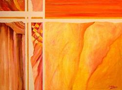 Art: Torn Curtain - SOLD by Artist Diane Millsap