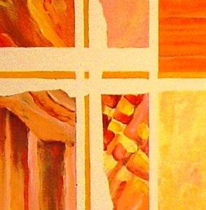 Detail Image for art Torn Curtain - SOLD