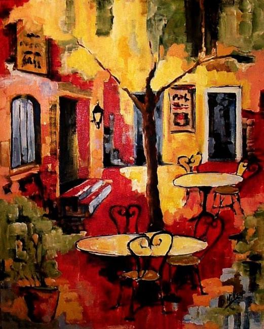 Art: Red Cafe - SOLD by Artist Diane Millsap