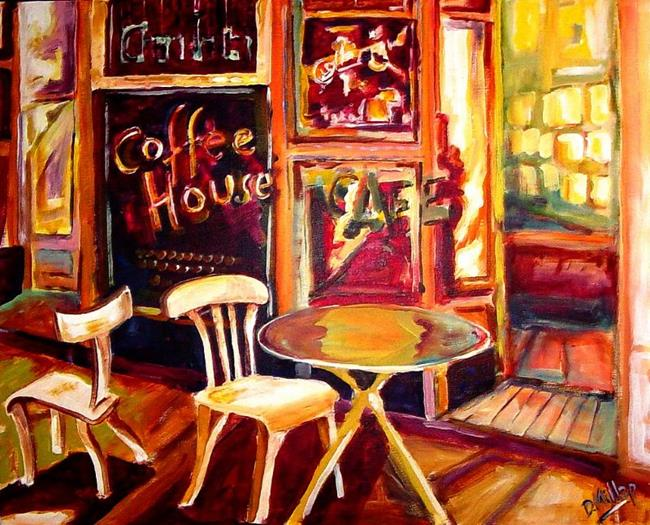 Paintings Of Abstract Interiors With Figures