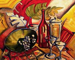 Art: Retro Still Life - SOLD by Artist Diane Millsap