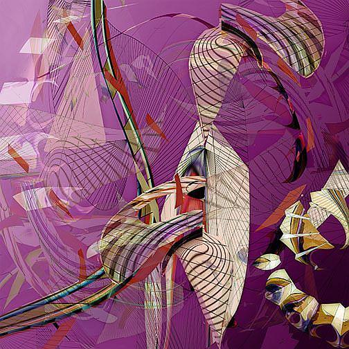 Art: Discoordinate Flamingo by Artist Alma Lee