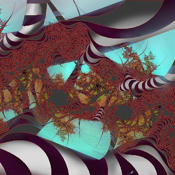 Art: Zebras in the forest by Artist Alma Lee