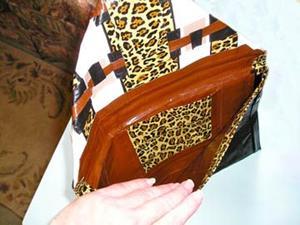 Detail Image for art Leopard Square Duct Tape purse