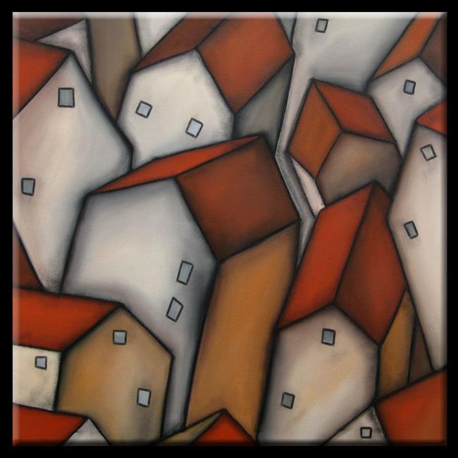 Art: abstract 387 3030 Original Abstract Art Census by Artist Thomas C. Fedro